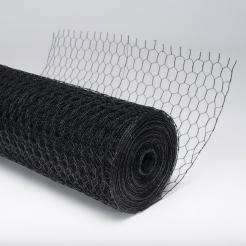 A roll of metal hex fencing