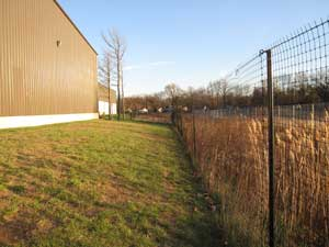 installed deer fence around a business